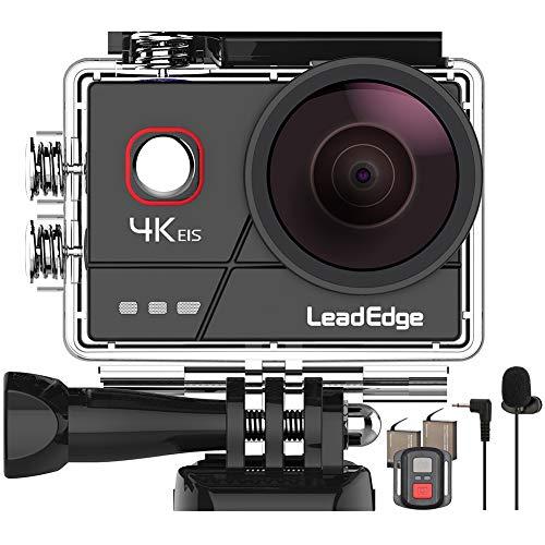 LeadEdge A20 Action Cam4K 20MPEISstabilizzata Microfono EsternoWiFi 2.0IPSLCDLente Grandangolare di 170 ° Il Telecomando Immersione Subacqueo di 40 Metri 2 Casco Impermeabile Videocamera