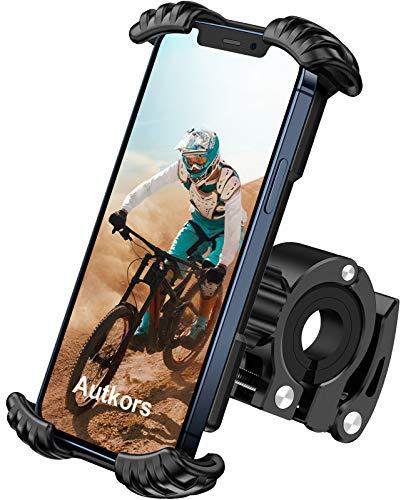 Autkors Porta Cellulare Bici, Supporto Telefono Bicicletta Porta Cellulare Motociclo Rotazione a 360° per iPhone 12,11 Pro, Xs Max, X, 8, 7, 6, Galaxy, Huawei e Altri Smartphone da 4,7-7,0 Pollici
