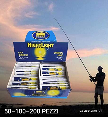 da lineaeffe Starlight da Pesca Notturna Luce per Pescare Bolognese surfcasting (20 Pezzi)