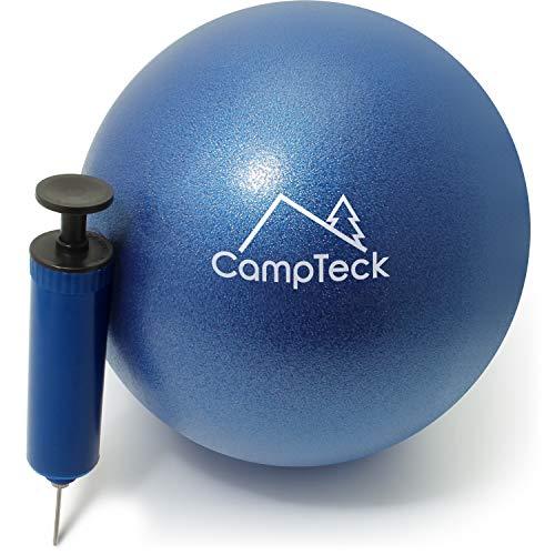 CampTeck U6812 Palla Pilates Piccola Plastica Anti-Ccoppio Palla Yoga 23cm per Allenamento, Palestra, Fitness, con Pompa a Mano – Blu
