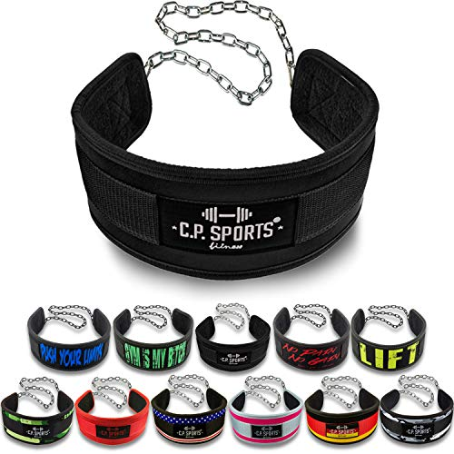 C.P.Sports - Cintura per Sollevamento Pesi, Regolabile in Base al Peso