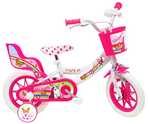 Denver 12' Unicorn, Bicicletta Bambino, Bianco-Rosa