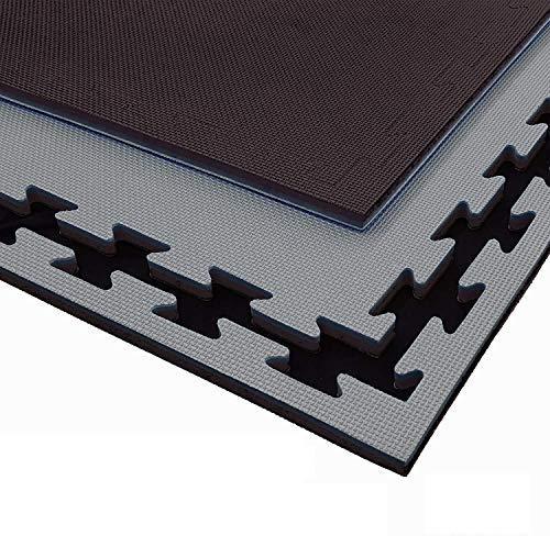 G5 HT SPORT Tatami Nero/Grigio da Fitness a Puzzle   100 * 100 * 2 cm   Protezione per Pavimenti   materassino per Palestra, Workout, Ginnastica, Arti Marziali   Lavabile e Reversibile