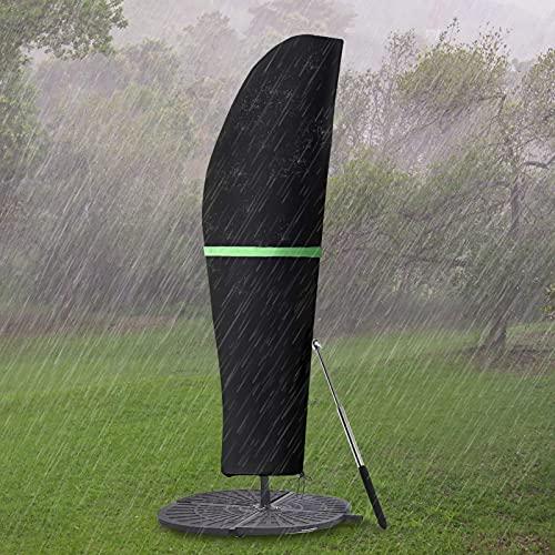GEMITTO Copertura Protettiva per Ombrellone (Diametro 2-4 m),Copertura per Ombrellone da Giardino Impermeabile, Copertura per Ombrellone con Cerniera Impermeabile (280 x30/81/45cm, 420D)