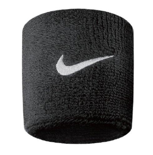 Nike Swoosh, Coppia di Polsini Unisex, Nero (Black/White), Taglia unica (uomo)