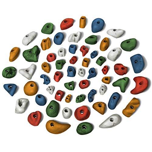 ALPIDEX 60 Prese da Arrampicata per un'area di Arrampicata di Circa 4-8 m², Colore:Misto colorato