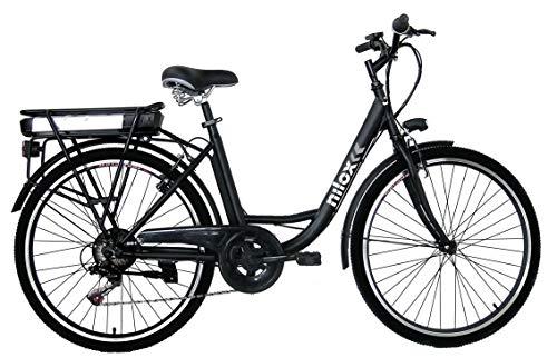 Nilox, E-Bike J5, Bici Elettrica con Pedalata Assistita, Motore Bafang a 3 velocità da 250 W e Batteria Removibile Samsung da 36 V, 8 Ah, Ruote da 26' e Cambio Shimano a 6 Marce