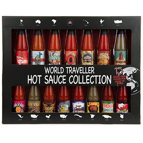 Modern Gourmet Foods, Collezione di Salse Piccanti - Set di 15 Gusti Unici, Ispirato ai Sapori Internazionali della Salsa al Peperoncino di Tutto il Mondo