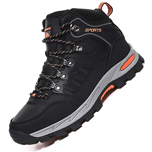Rokiemen Uomo Donna Scarpe da Trekking Arrampicata Sportive Impermeabile Scarponi da Montagna All'aperto Escursionismo Sneakers Nero 38 EU