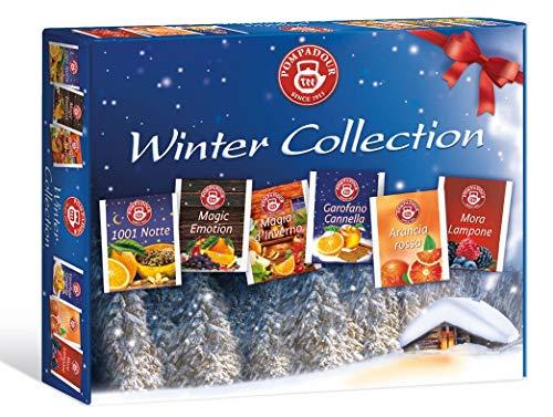 Pompadour Tè Collezione Inverno Assortimento di Tisane alla Frutta Senza Caffeina - 1 x 30 Bustine di Tè (82.5 Grammi)