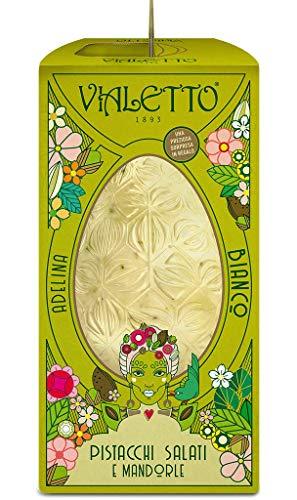 VIALETTO Uovo di Cioccolato Adelina | Cioccolato bianco con granella salata di mandorle e pistacchi | Uovo di Pasqua da 300 grammi