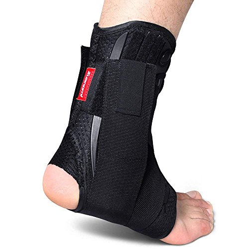 Kuangmi cavigliera, con lacci, stabilizzatori laterali e cinghia di fissaggio ausiliare a croce Forza e protezione, 1 pezzo.L=42-44