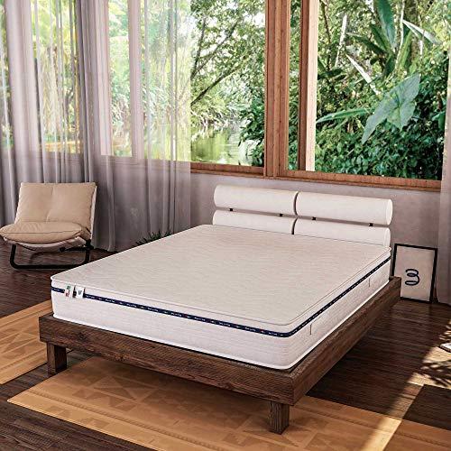Baldiflex Emporio Materasso Matrimoniale in Memory Foam 160x190 Alto 20 cm con Rivestimento Anallergico ed Antiacaro, Materasso Amazonia Plus
