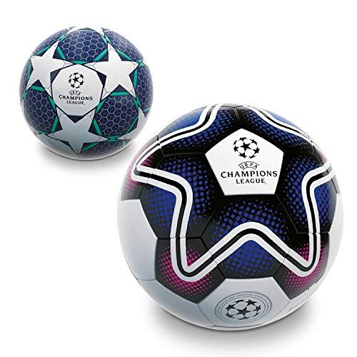 Mondo Mondo-13845 Toys-Pallone da Calcio da Uomo-UEFA Champions League-Size 5-350 Bianco/Nero/Blu-13845, Colore Bianco/Nero/Blu, 350 g, 13845