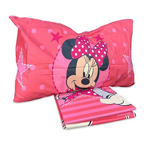 Disney Completo Letto Minnie 1 Piazza, Cotone, Rosa