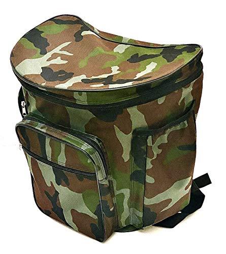 Zaino con cesta in vimini porta funghi militare gerla cesto mimetico raccolta funghi cm. 41x28,5 x38,5h