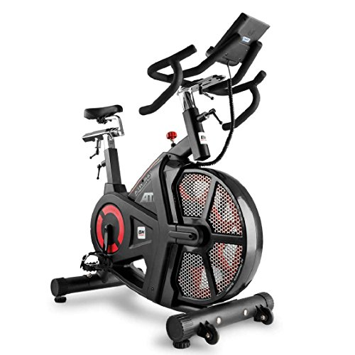BH Fitness, ciclette i.Air Mag, Unisex, Nero/Rosso, Grande