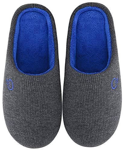 Mishansha Pantofole Casa/Esterno Donna Uomo Pantofola in Memory Foam Ciabatte da Casa Scarpe Inverno Autunno - Calde Leggere Morbide Comode e Antiscivolo(Grigio, 40/41)