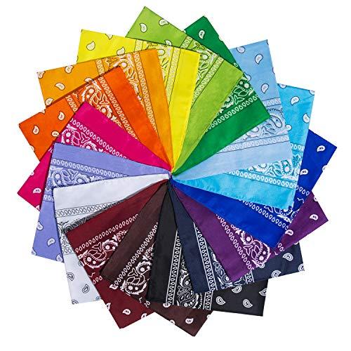YHmall 14 Pezzi Bandane Multicolori per Cappelli, Bandana per Capelli, Collo,Testa, Sciarpa Fazzoletti Paisley per Donna Uomo Bambini Multicolori Fazzoletti Testa