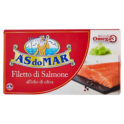 Asdomar Filetti di Salmone all'Olio di Oliva, 150g