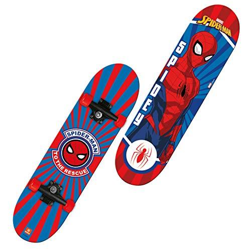 'Mondo Toys - Skateboard Spiderman - ruote PVC - 9 strati board - 80 x 20 - 18396'