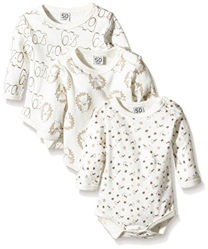 Care Baby - Body a Maniche Lunghe per Bimbo e Bimba, Pacco da 3 e Pacco da 6