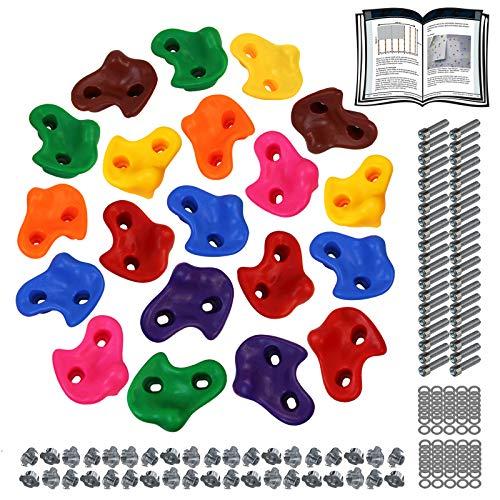 ALPIDEX Prese da Arrampicata per Bambini , Portata Fino a 200 kg , Incluso Materiale di Fissaggio - 20 Pezzi