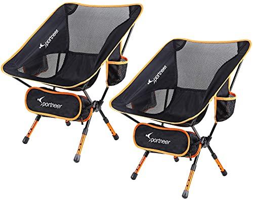 Sedia da Campeggio Pieghevole, Sportneer Portatile Leggero Pieghevole Campeggio Sedia per Backpacking/Trekking/Picnic/Pesca/Spiaggia/Giardino (2)