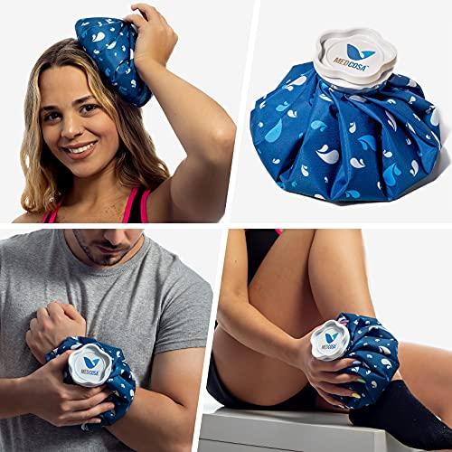 Medcosa borsa del ghiaccio | Riutilizzabile, non bagna e resta fredda | Tessuto morbido | Perfetta per infortuni, metodo RICE, mal di testa ed escoriazioni