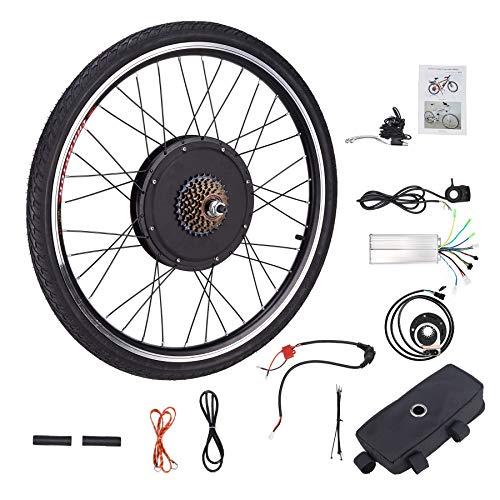 Sfeomi 48V 1000W 66CM Kit di Conversione Bici Elettrica Controllo Mozzo Motore Hub E-Bike Ruota Bicicletta Regolatore di velocità (Ruota Posteriore)