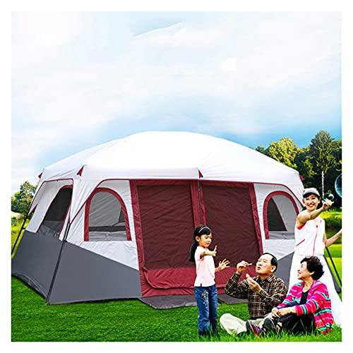 Tenda 8-12 Persone, Tenda Familiare Con 2 Camere Da Letto, Tende Da Campeggio E Ripari, Tenda Grande Tende Da Esterno Per 12 Persone, Tenda Da Campeggio Impermeabile Al 100% Cucita Nel Pavimento