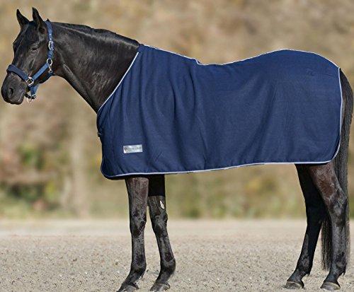 Economic, coperta in pile per cavalli, colore blu scuro, misura: 145 cm