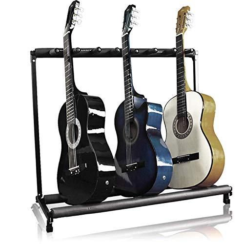Dawoo Supporto per chitarra 7 Supporto-Chitarra pieghevole Organizzatore di archiviazione portatile Decorazione display
