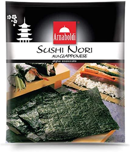 Arnaboldi Alga Nori per Sushi Giapponese, 16 Fogli di Alghe Nori Essiccate [2 Confezioni da 8 Fogli]