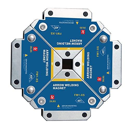 Magneti per Saldatura,VVEMERK 4 Pezzi Saldatur Posizionatore Magnetico per Supporto angolare 45 °,90 °,135 °,13KG Accessori per saldatura