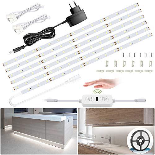 6M Striscia LED 12V, Ustellar 360 Unità LED Dimmerabile Striscia Luce Bianco 6000K SMD2835, Illuminazione Interna per Soggiorno Cucina Camera
