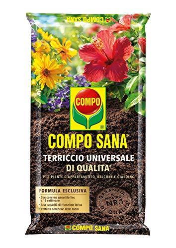 COMPO SANA Terriccio Universale di qualità, Per piante d'appartamento, balcone e giardino, 20 l