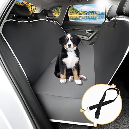 Toozey Coprisedili Auto per Cani con Protezione Laterale, Impermeabile AntiGraffio Telo Cani Auto con Cintura per Auto/Furgone/SUV/Vagone, 147x137 cm