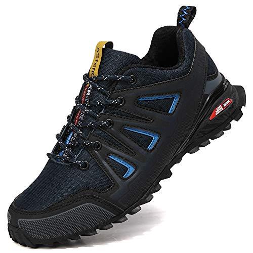 ASTERO Uomo Scarpe Ginnastica Sportive Running Sneakers Corsa Basse Basket Respirabile Fitness Outdoor Escursionismo Calzature Taglia 41-46(EU, Blu, Numeric_42)