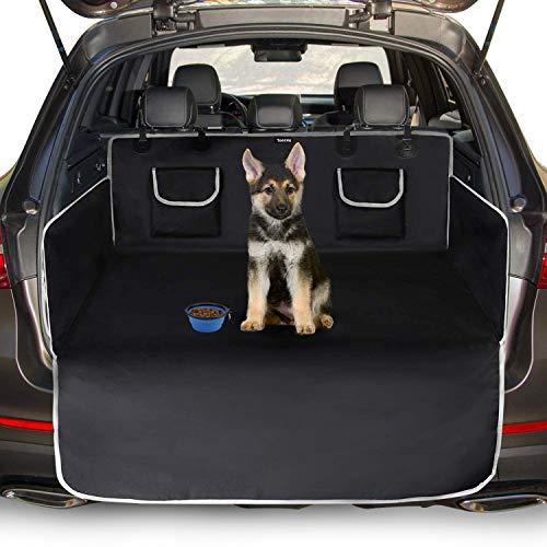 Toozey Telo Auto per Cani - 185 * 105 Coperta Universale Antiscivolo per Cani con Protezione Laterale e Paraurti, Impermeabile e Antivegetativa, Robusto Telo Auto per Cani, Facile da Pulire - Nero