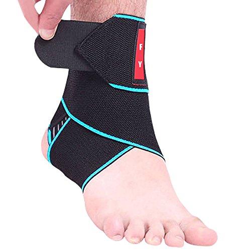 FYSHOP Supporto Caviglia con Rinforzo Cavigliera Sportiva Elastica Regolabile Caviglia Tutore Compressione Traspirante per Distorsione 1 Pezzo