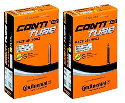 Continental - Camera d'aria per bici da corsa, 28', 18-25/622-630 60 mm SV, 2 pezzi