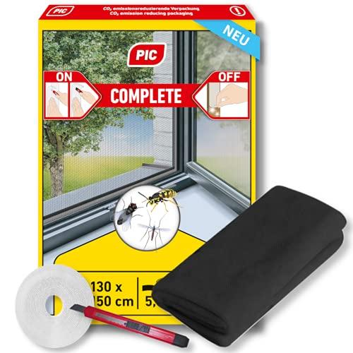 PIC zanzariera finestra - 130 cm x 150 cm - zanzariera con Nastro Autoadesivo - zanzariera senza foratura - incluso coltello da taglio gratuito