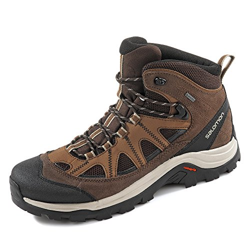 Salomon Authentic Gore-Tex (impermeabile) Uomo Scarpe da trekking, Marrone (Black Coffee/Chocolate Brown/Vintage Kaki), 42 EU