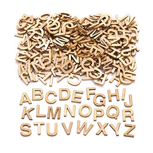 Baker Ross Aw350 Mini Lettere Maiuscole in Legno (Confezione da 260) - Decorazioni Creative per Bambini, Wood