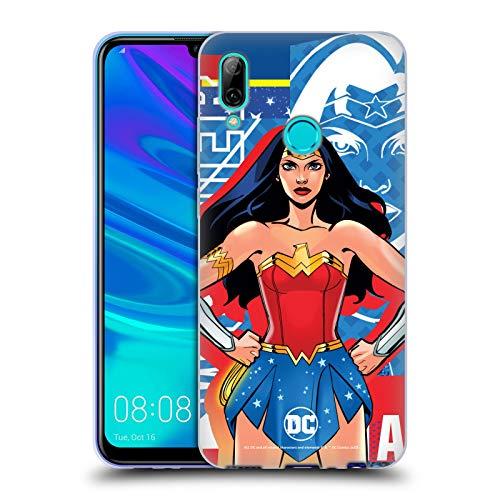 Head Case Designs Licenza Ufficiale DC Women Core Wonder Woman Composizioni Cover in Morbido Gel Compatibile con Huawei P Smart (2019)