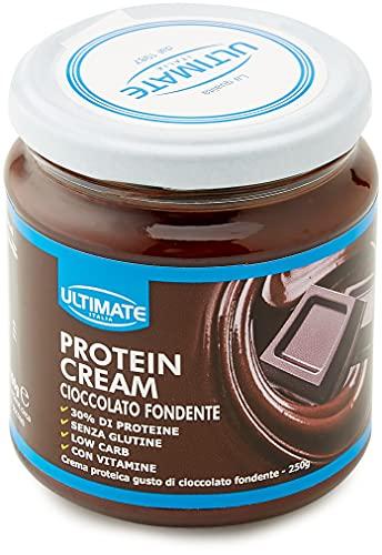 Protein Cream Cioccolato Fondente - Crema Proteica Spalmabile Col 30% Di Proteine Del Siero Del Latte - Whey Isolate Microfiltrate - Senza Glutine - Senza Zucchero - Low Carb - 250 g - Ultimate Italia