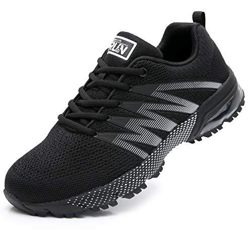 Fexkean Scarpe da Uomo Donna Ginnastica Corsa Sportive Calzature Outdoor Fitness Running Casual Basket Sneaker (8995 Black 43)