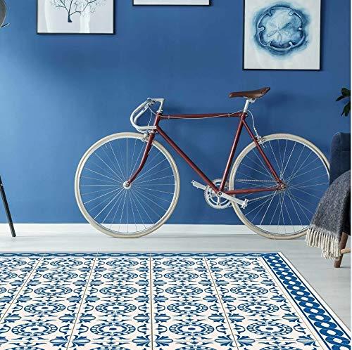 Dekoidea by Crearreda Tappeto Salotto in PVC Antiscivolo e Isolante Tappeto Ideale per Soggiorno e Camera Tappeto in Vinile (Tile Carpet, 100 x 150), Completamente Made in Italy