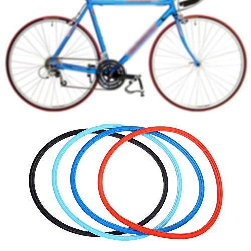 pneumatico solido,Pneumatici da bicicletta Tubless Riding sostituzione per biciclette da strada fissi sostituzione per bici da strada 700 * 23C Fixed Gear(nero)